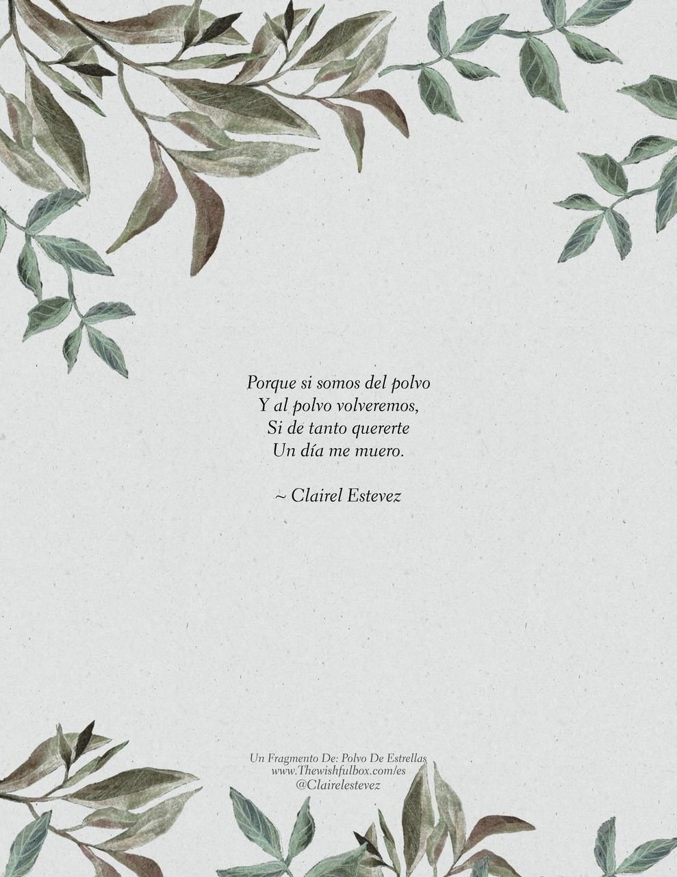 Un Fragmento De Polvo De Estrellas Poemas Poesías