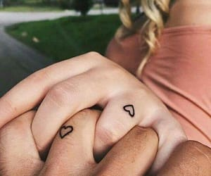 hand, heart, and couplegoal image