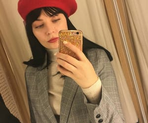 beret, iphone, and red beret image