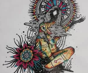 art, girl, and hippie image