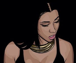 nicki minaj, black, and art image