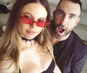 adam levine and Behati Prinsloo image