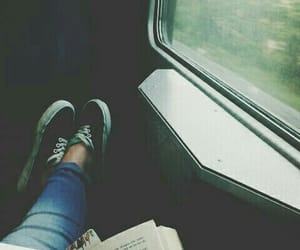book, travel, and vans image