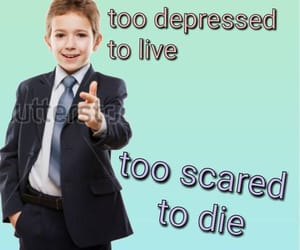 death, depression, and funny image