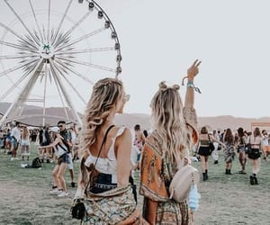 coachella, friends, and fashion image