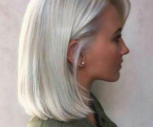 bleach blonde, blonde, and hair image