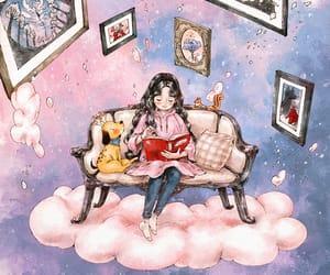 dog, girl, and aeppol image
