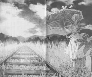 anime, black, and girl image