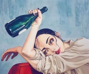 alcohol, crying, and draw image