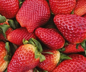 strawberry, food, and healthy image
