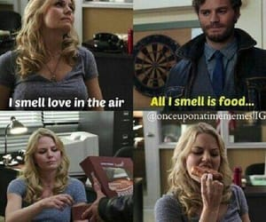 once upon a time, funny, and food image