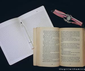 books, notes, and reading image