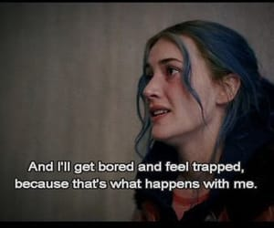 eternal sunshine of the spotless mind, kate winslet, and bored image
