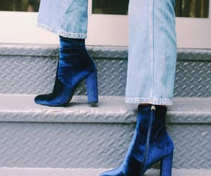 boots, fashion, and blue image