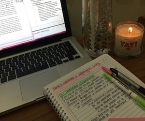 candle, college, and desk image
