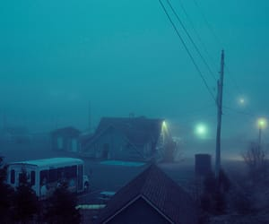 aesthetic, blue, and mist image