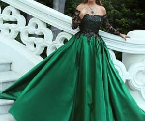 ball gown, formal dress, and prom dress image