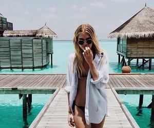 beach, blond, and inspo image
