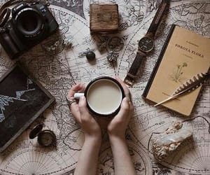 coffee, book, and travel image