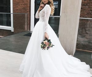 beautiful, bride, and dress image