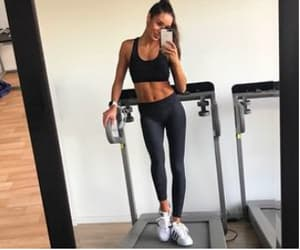 Treadmill, fitspo, and abs image
