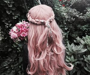 pink, pastel, and hair colour image