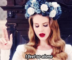 lana del rey, alone, and beautiful image