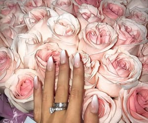 accessories, flowers, and nail inspo image