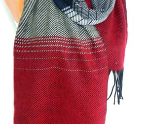 christmas, blanket shawl, and winter scarf image