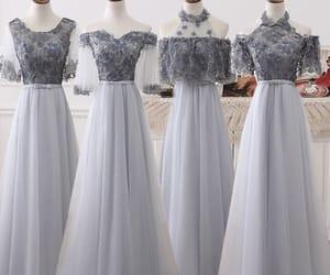 beautiful dress, long dress, and tulle image