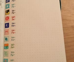 bullet journal and password image
