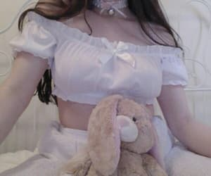 bunny, choker, and girl image