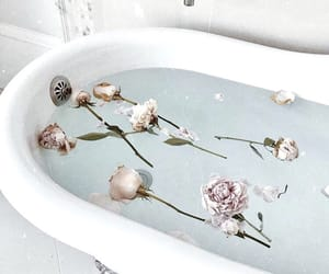 flowers, bath, and luxury image