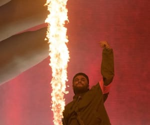 coachella, fire, and red image