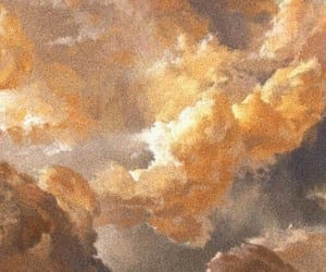 aesthetic, clouds, and gold image