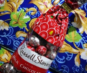 chocolates, russell stover, and milk image