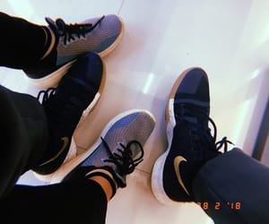 gold, sneakers, and kyrie image