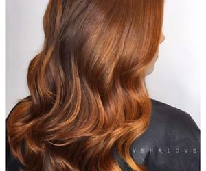 long hair, chocolate hair, and dark copper image