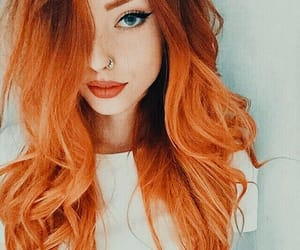 hair, orange hair, and style image