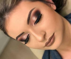 brown, eyeliner, and make-up image