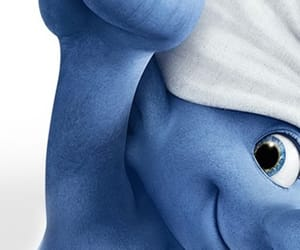 background, smurfs, and blue image