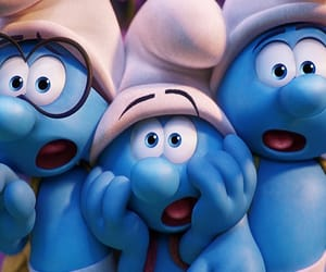 blue, wallpaper, and the smurfs image