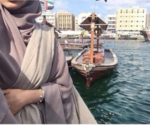 Dubai, hijab, and abaya image