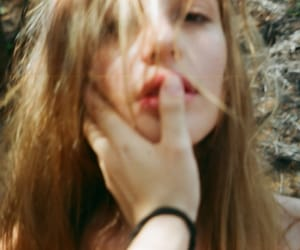 girl, lips, and grunge image