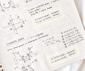 math, notes, and school image