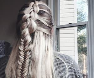 fashion, white hair, and girl image