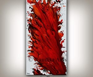abstract art, Abstract Painting, and gift for women image