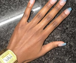 blue, nails, and casio image