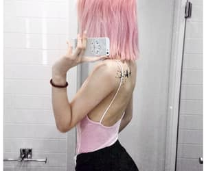 girl, hair, and pink hair image