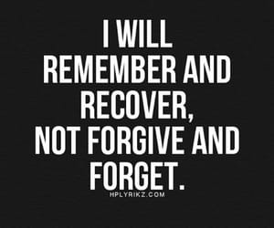 quotes, forget, and recover image